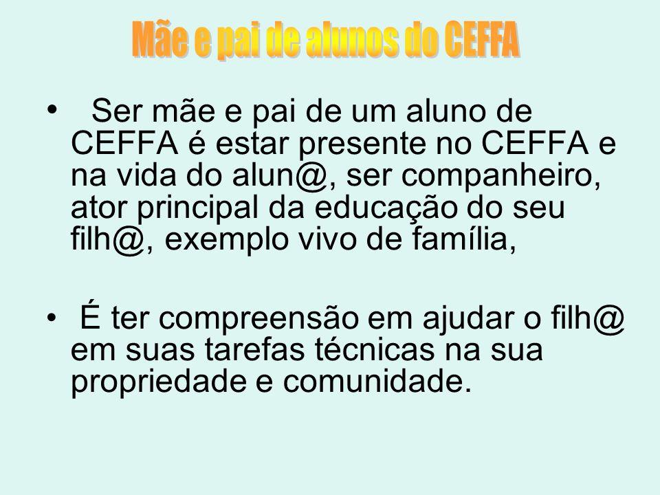 Mãe e pai de alunos do CEFFA