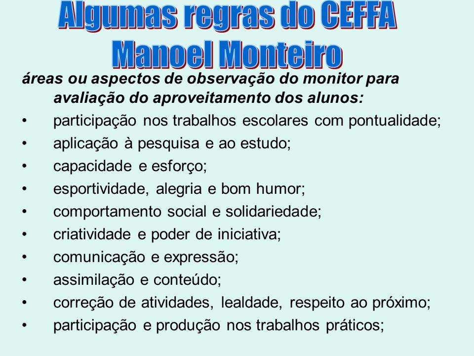 Algumas regras do CEFFA