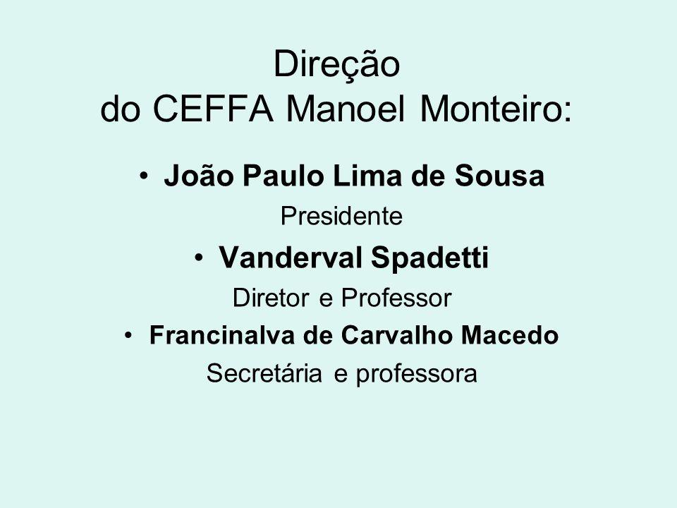 Direção do CEFFA Manoel Monteiro: