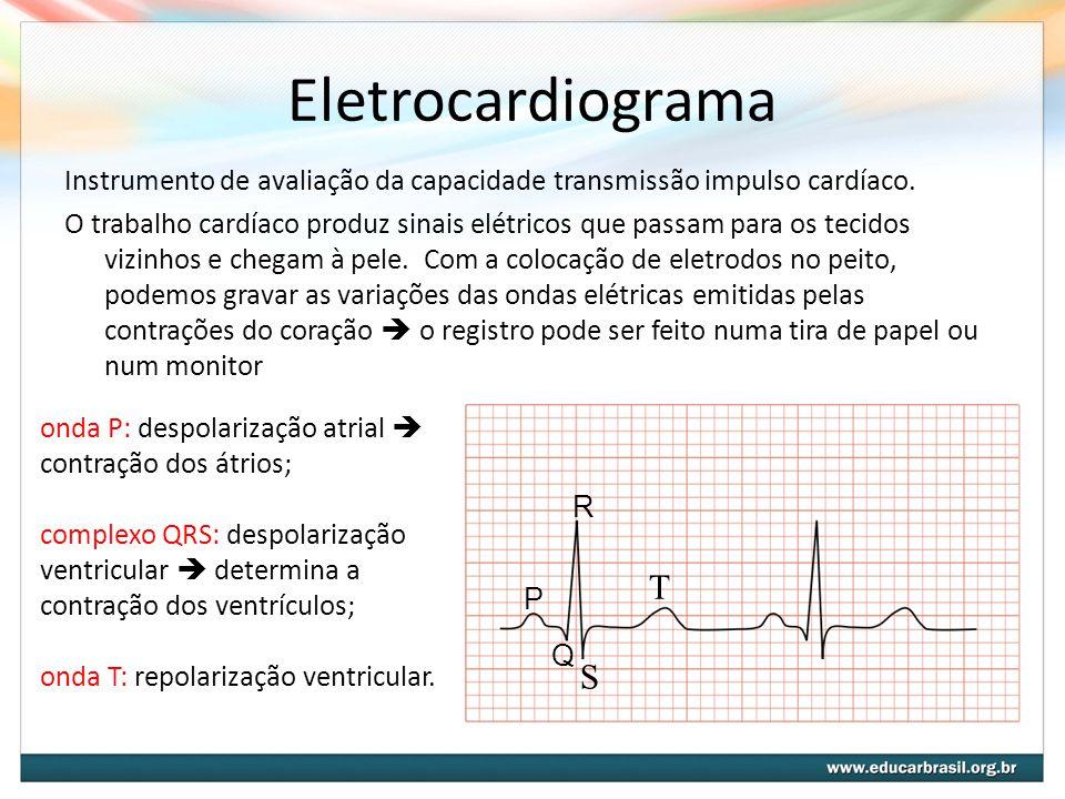Eletrocardiograma Instrumento de avaliação da capacidade transmissão impulso cardíaco.