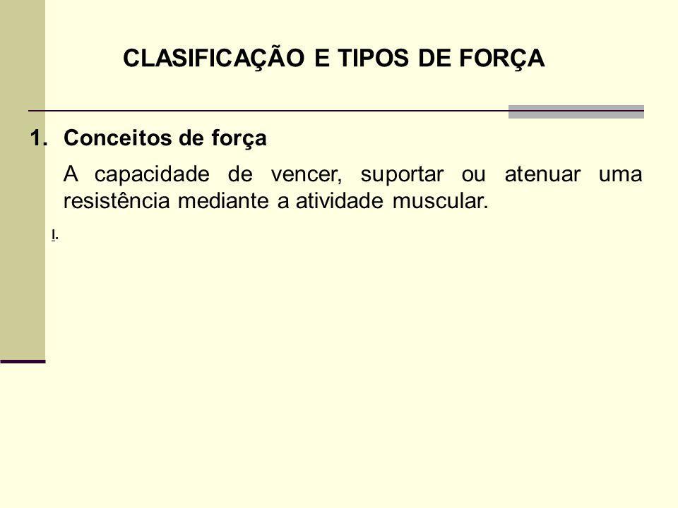 CLASIFICAÇÃO E TIPOS DE FORÇA