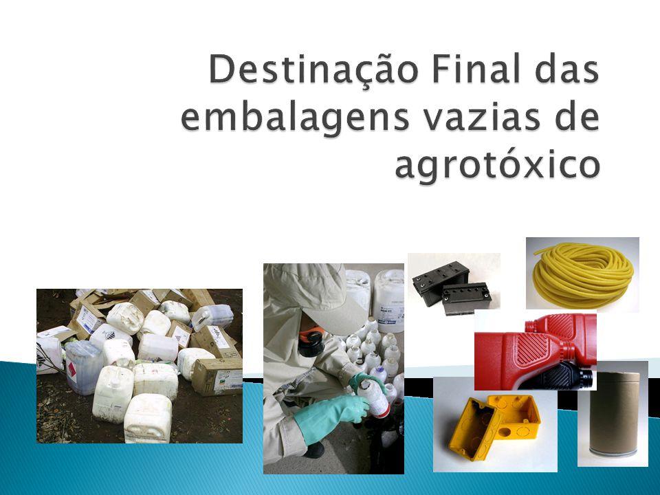 Destinação Final das embalagens vazias de agrotóxico