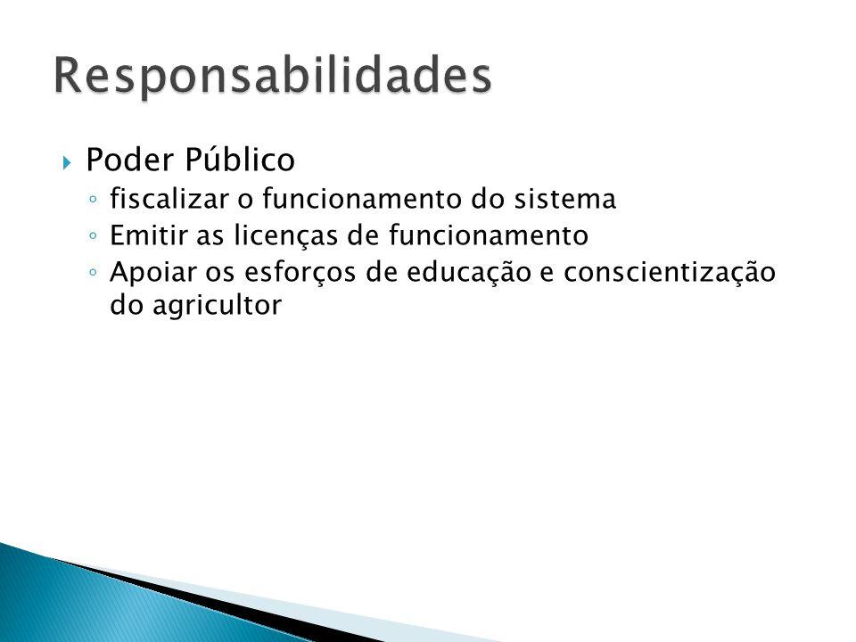 Responsabilidades Poder Público fiscalizar o funcionamento do sistema