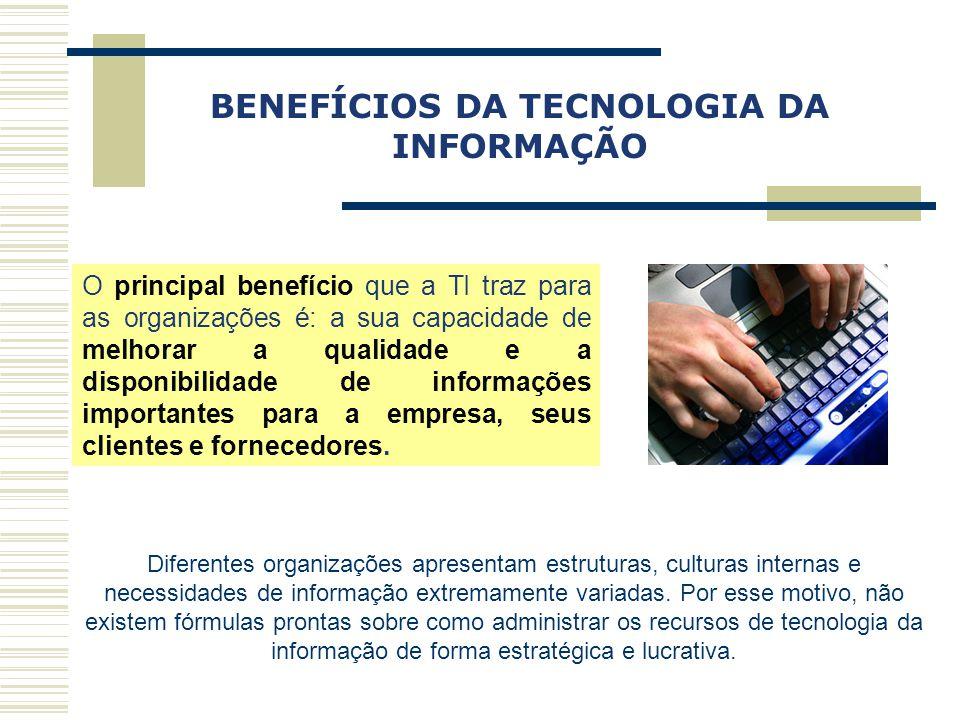 BENEFÍCIOS DA TECNOLOGIA DA INFORMAÇÃO