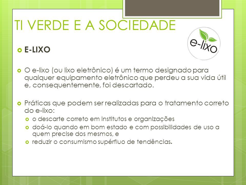 TI VERDE E A SOCIEDADE E-LIXO