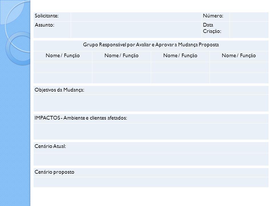 Grupo Responsável por Avaliar e Aprovar a Mudança Proposta