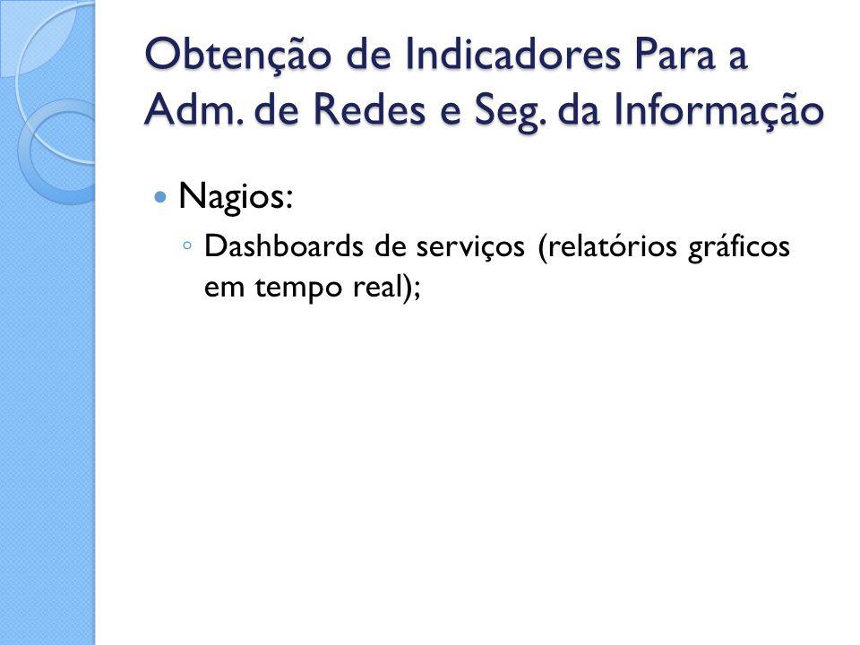 Obtenção de Indicadores Para a Adm. de Redes e Seg. da Informação