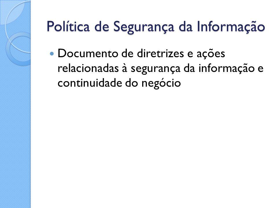 Política de Segurança da Informação