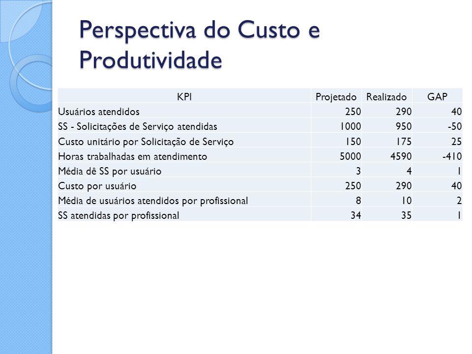 Perspectiva do Custo e Produtividade