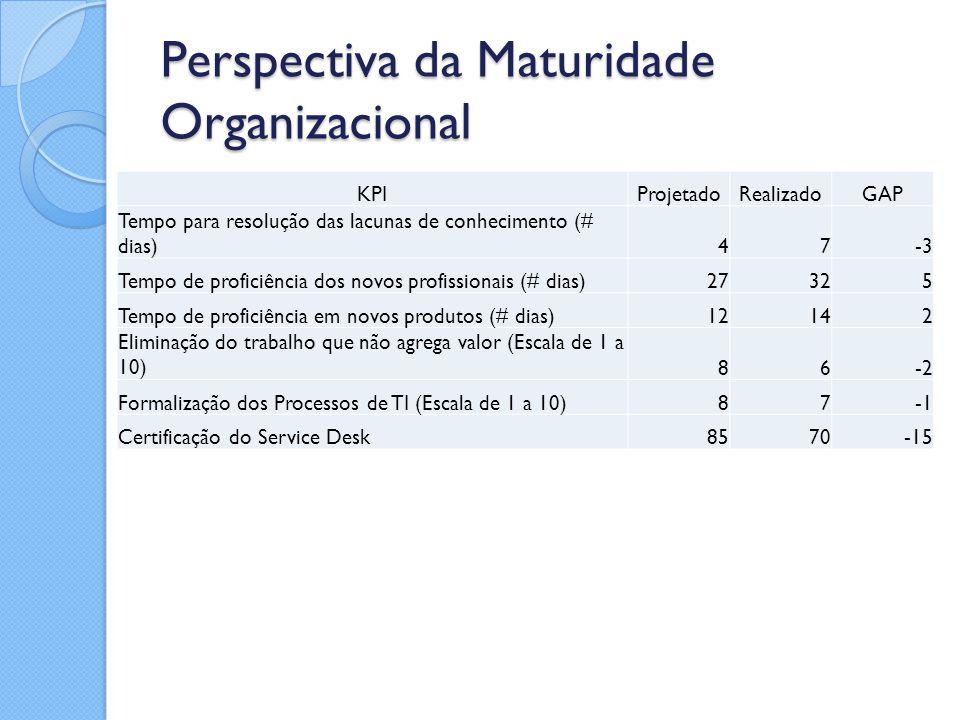 Perspectiva da Maturidade Organizacional