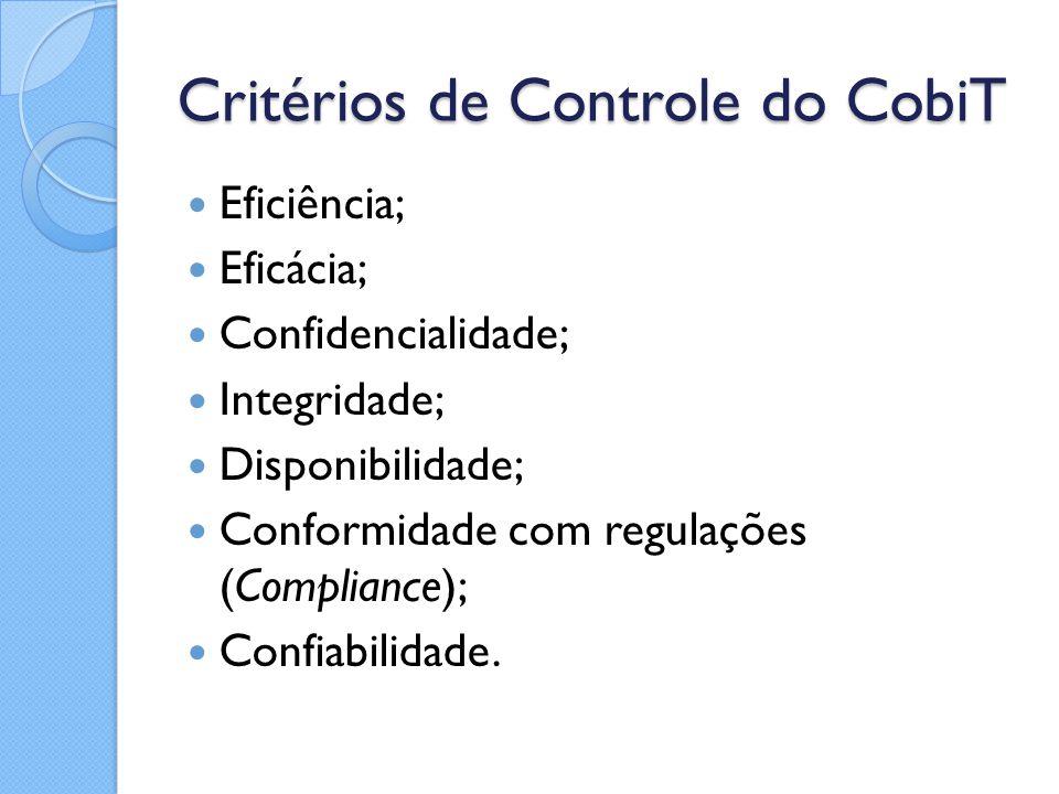 Critérios de Controle do CobiT
