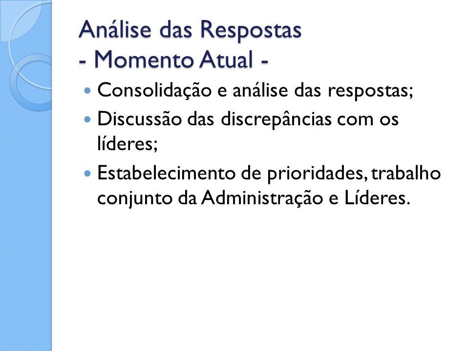 Análise das Respostas - Momento Atual -