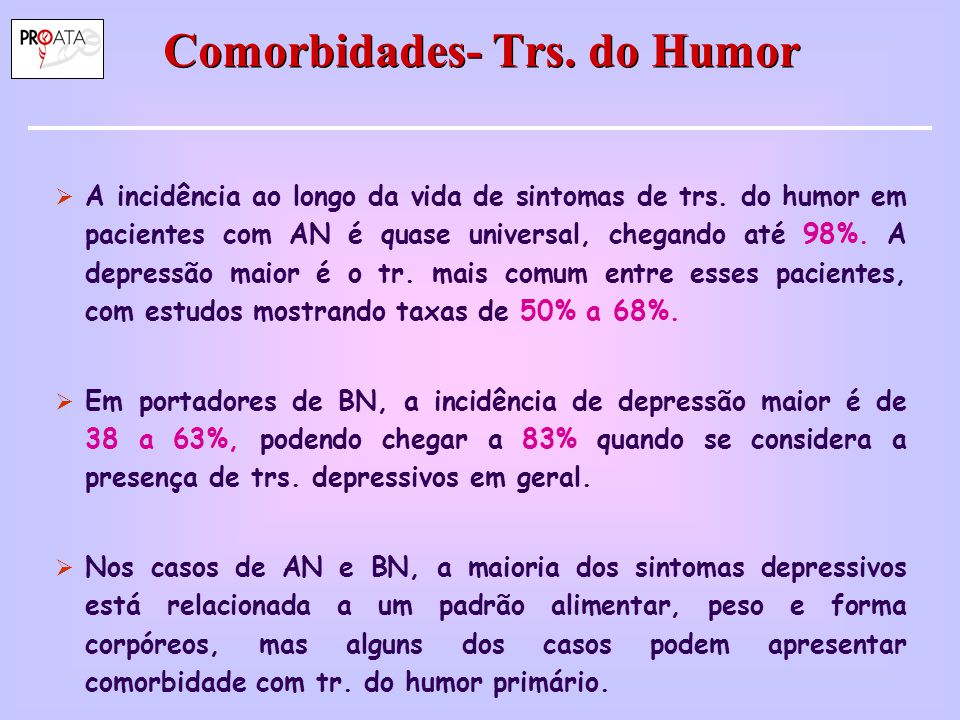 Comorbidades- Trs. do Humor