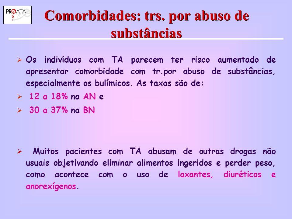 Comorbidades: trs. por abuso de substâncias