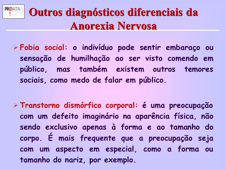 Outros diagnósticos diferenciais da Anorexia Nervosa