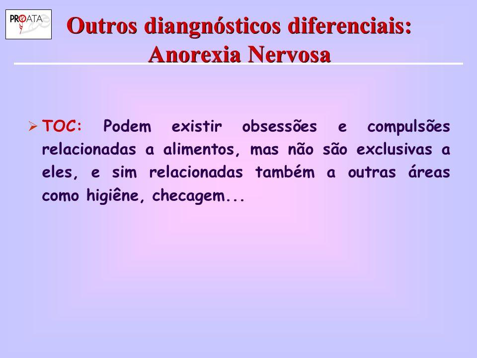 Outros diangnósticos diferenciais: Anorexia Nervosa