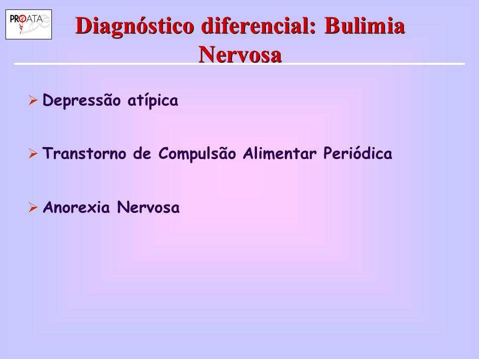 Diagnóstico diferencial: Bulimia Nervosa