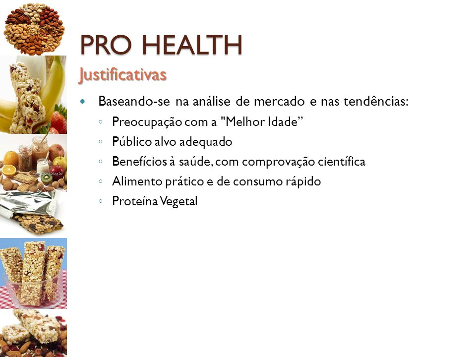 PRO HEALTH Justificativas