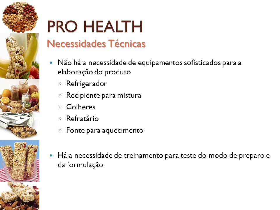 PRO HEALTH Necessidades Técnicas