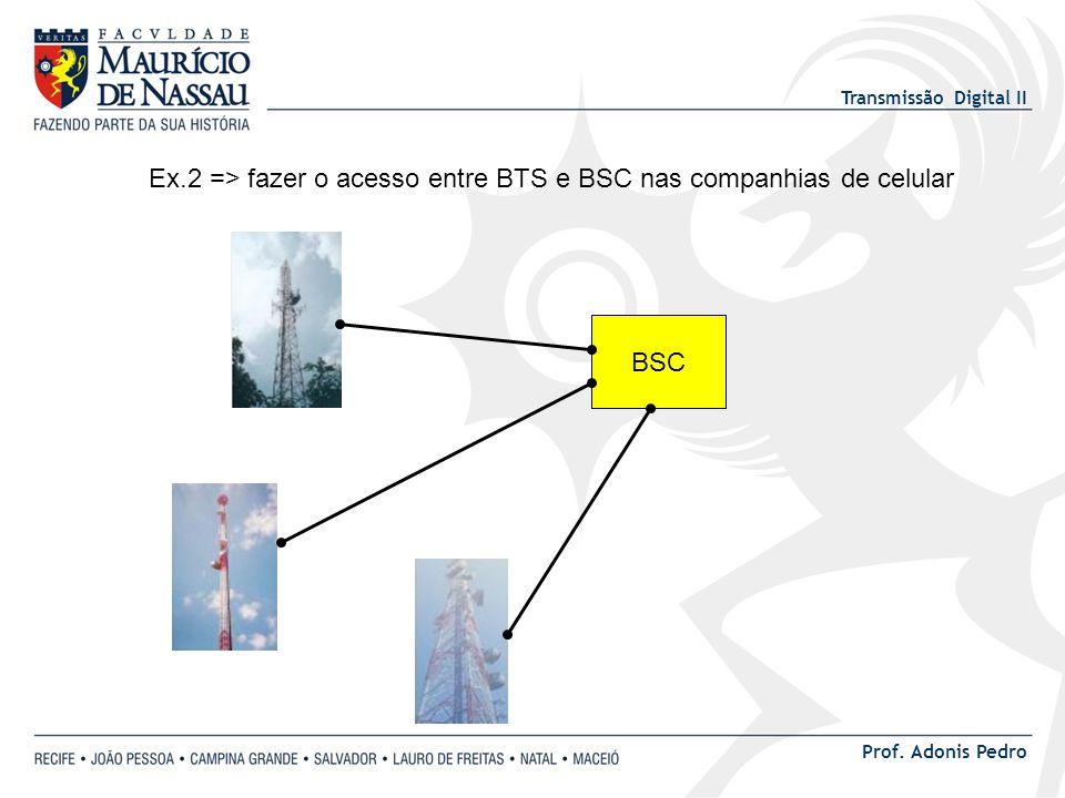 Ex.2 => fazer o acesso entre BTS e BSC nas companhias de celular