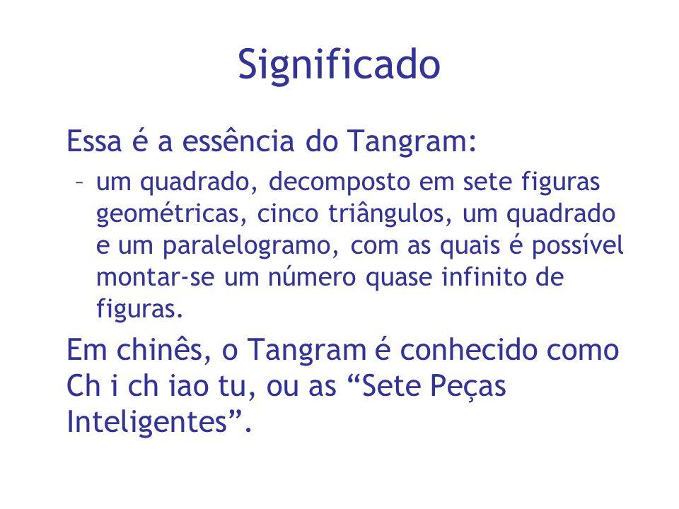 Significado Essa é a essência do Tangram: