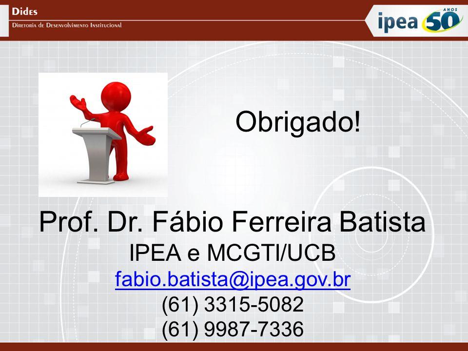Prof. Dr. Fábio Ferreira Batista