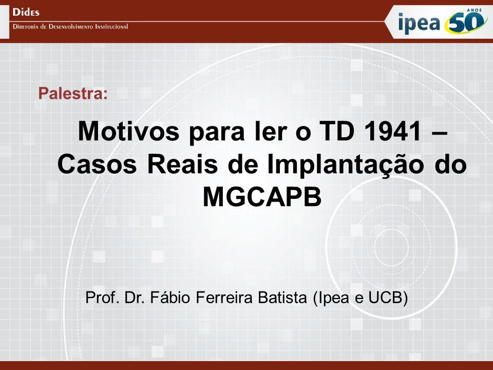 Motivos para ler o TD 1941 – Casos Reais de Implantação do MGCAPB