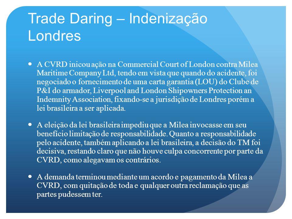 Trade Daring – Indenização Londres
