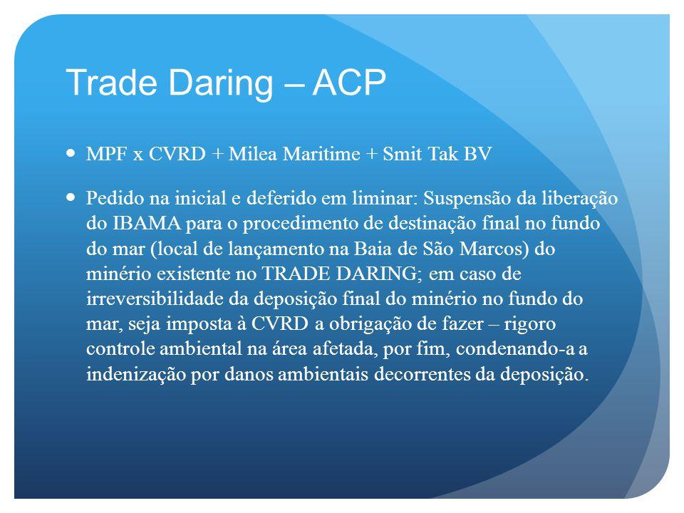 Trade Daring – ACP MPF x CVRD + Milea Maritime + Smit Tak BV