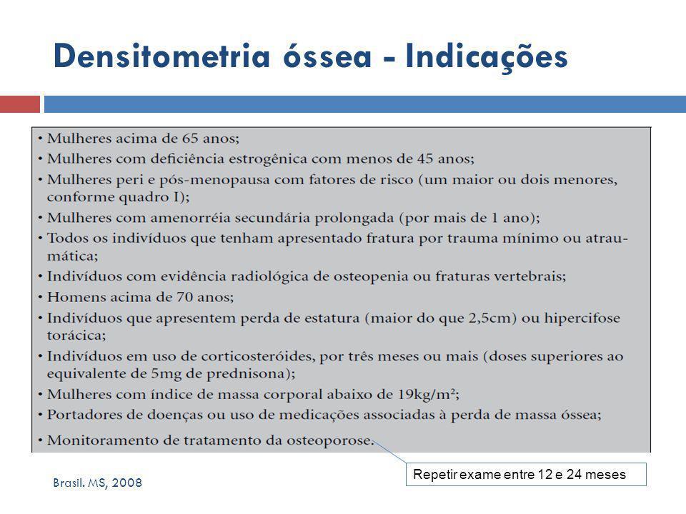 Densitometria óssea - Indicações