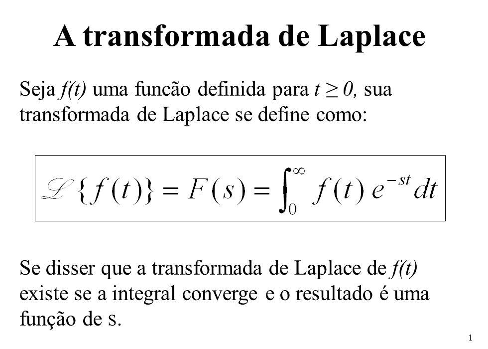 A transformada de Laplace