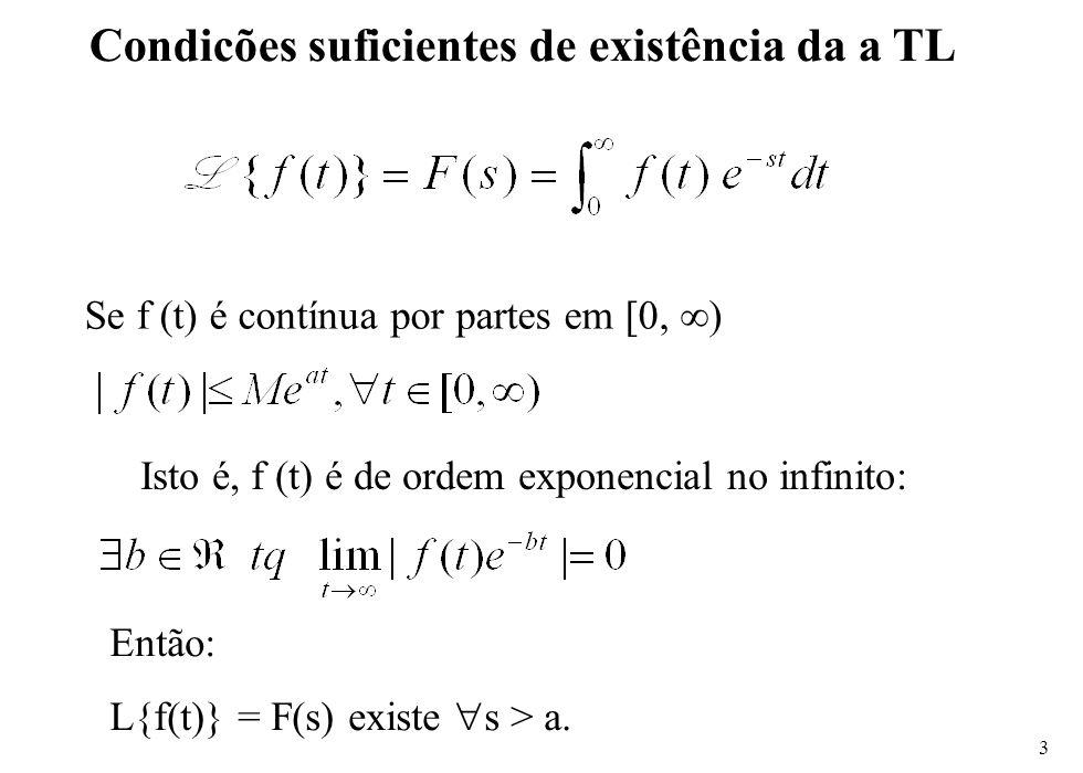 Condicões suficientes de existência da a TL