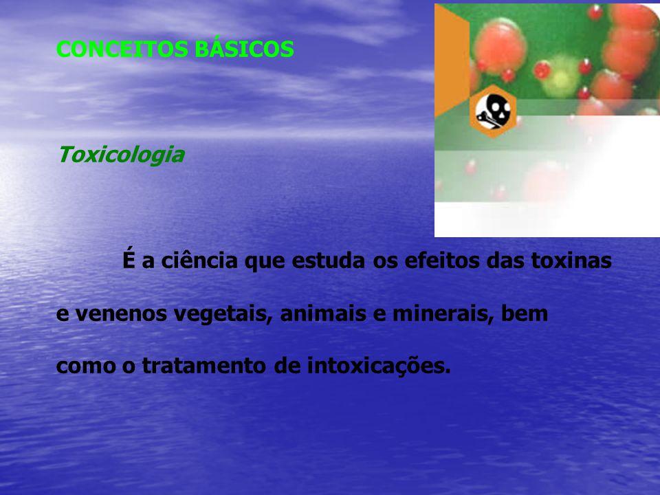 CONCEITOS BÁSICOS Toxicologia.