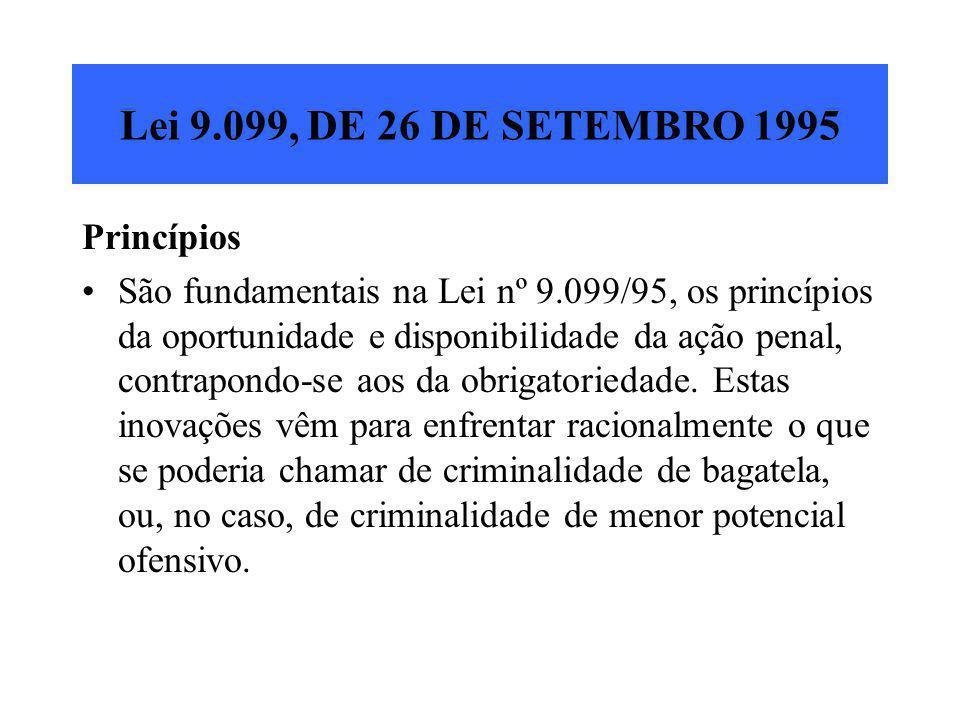 Lei 9.099, DE 26 DE SETEMBRO 1995 Princípios