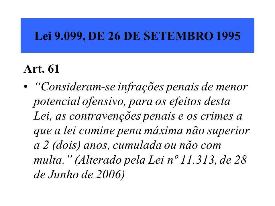 Lei 9.099, DE 26 DE SETEMBRO 1995 Art. 61.