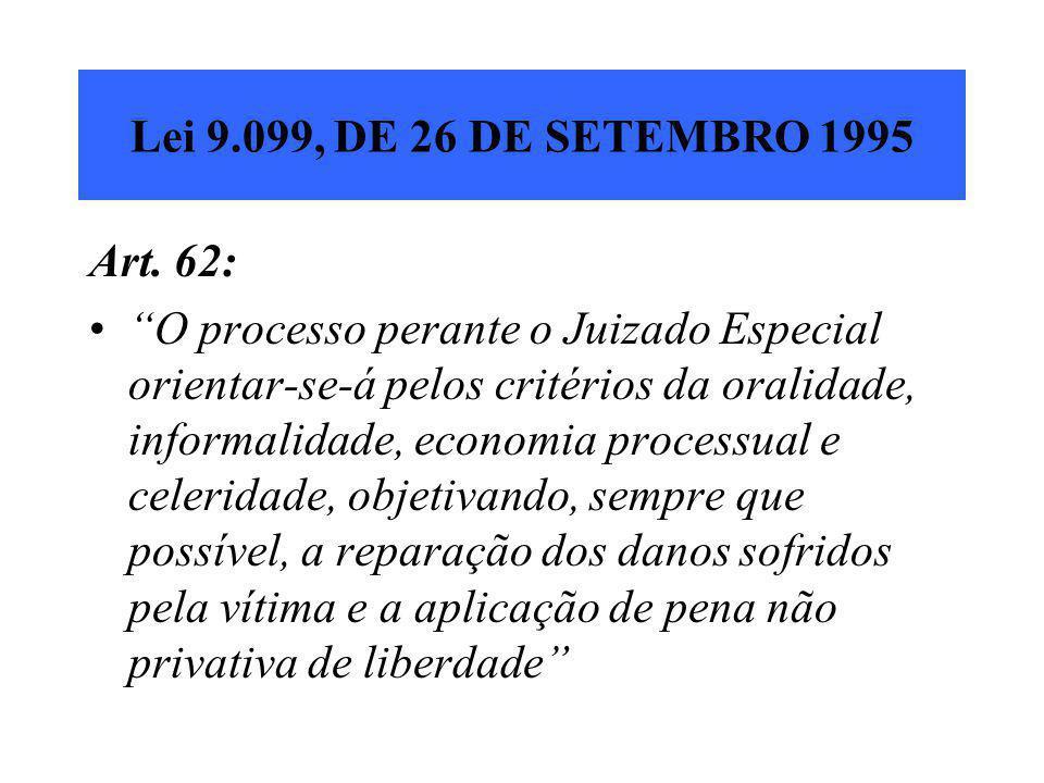 Lei 9.099, DE 26 DE SETEMBRO 1995 Art. 62: