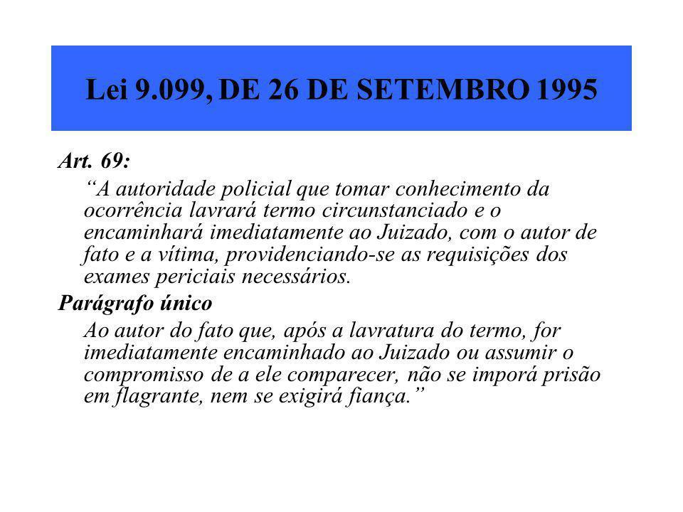 Lei 9.099, DE 26 DE SETEMBRO 1995 Art. 69: