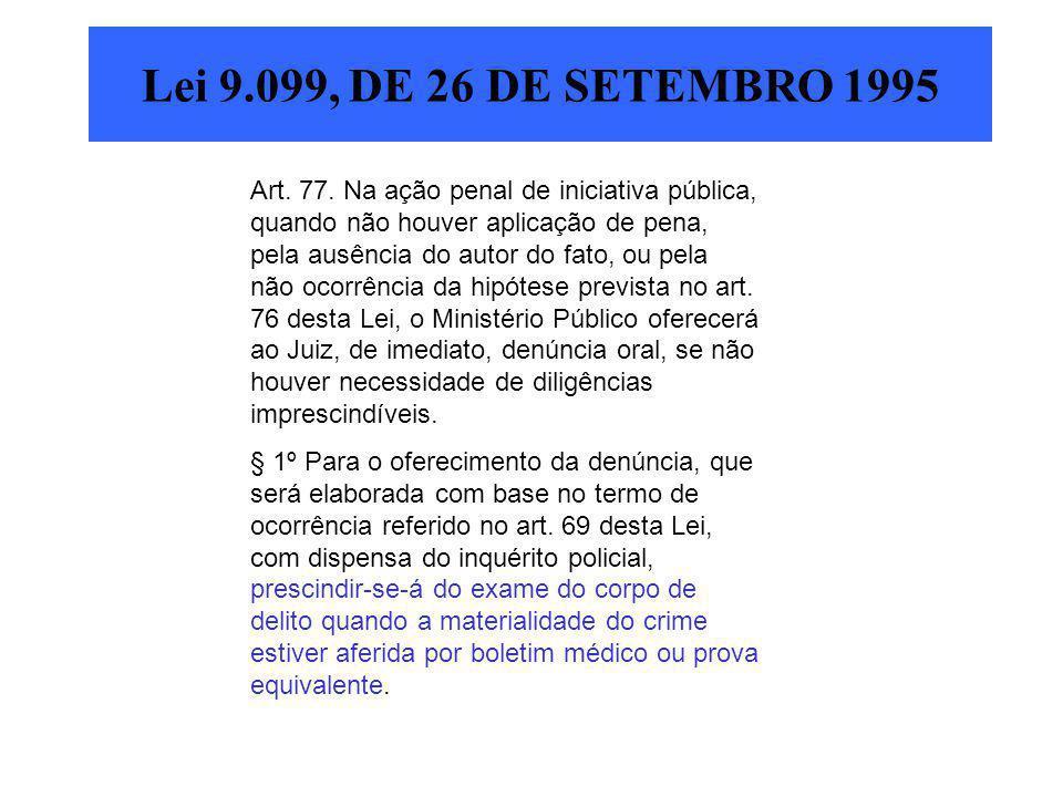 Lei 9.099, DE 26 DE SETEMBRO 1995