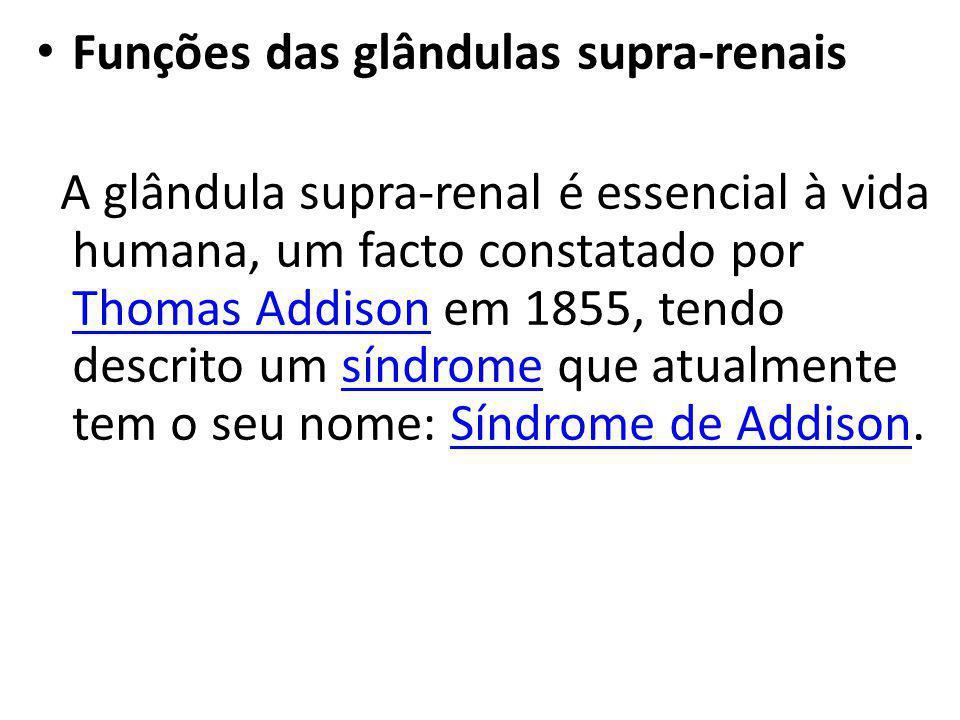 Funções das glândulas supra-renais