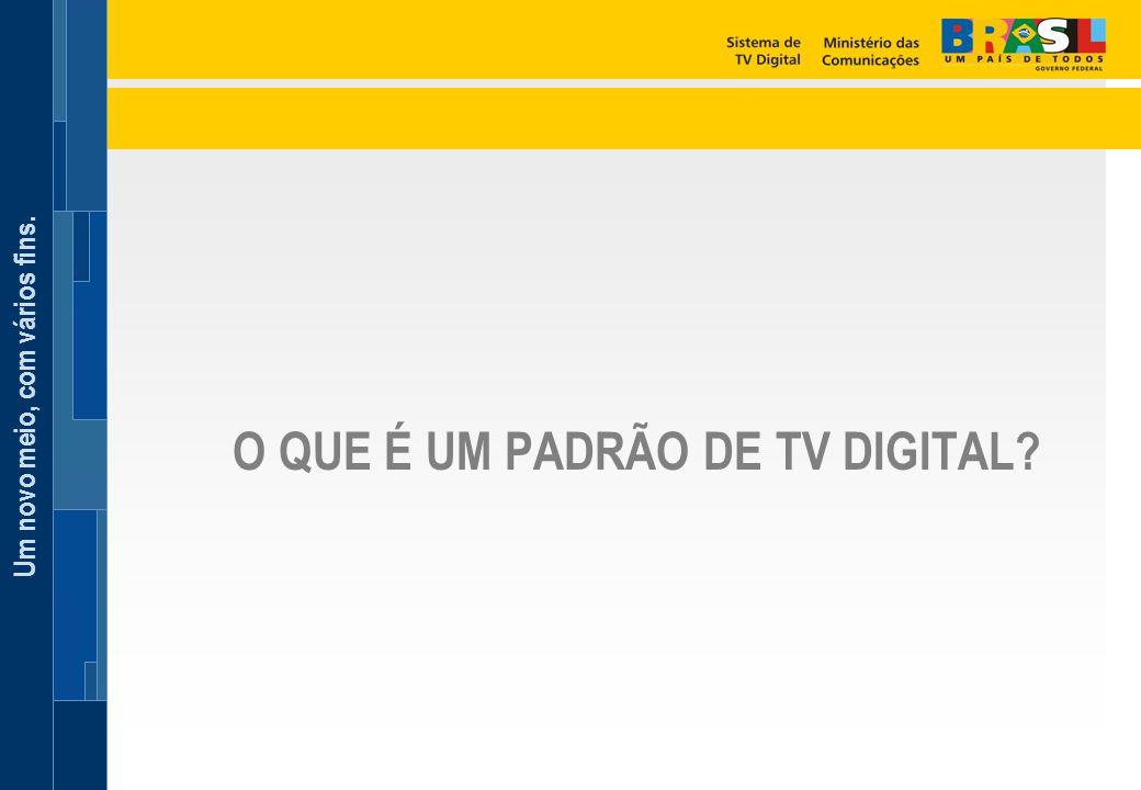 O QUE É UM PADRÃO DE TV DIGITAL