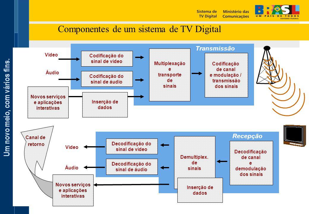 Componentes de um sistema de TV Digital