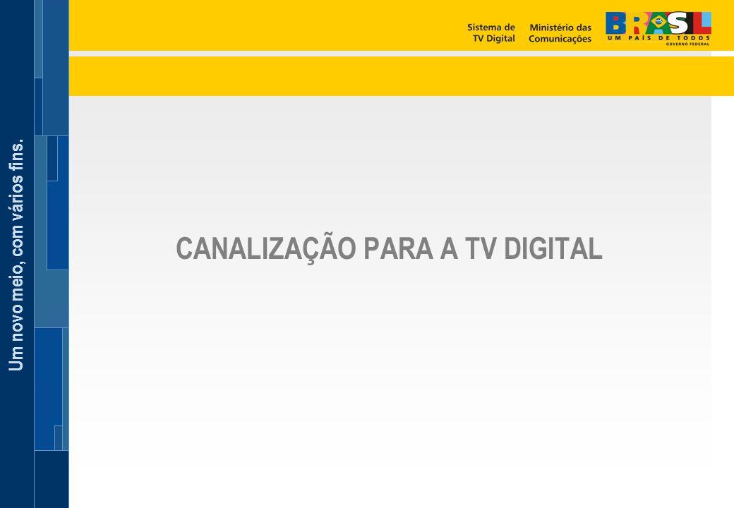 CANALIZAÇÃO PARA A TV DIGITAL