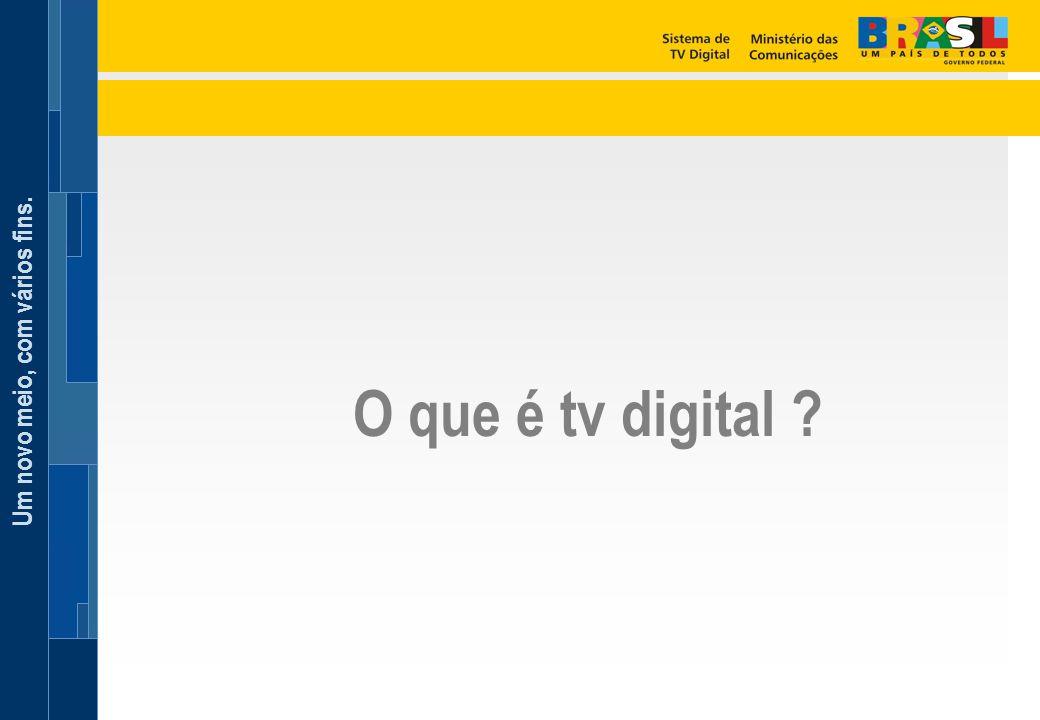 O que é tv digital