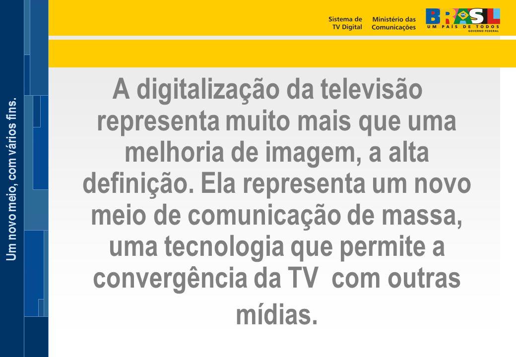 A digitalização da televisão representa muito mais que uma melhoria de imagem, a alta definição.