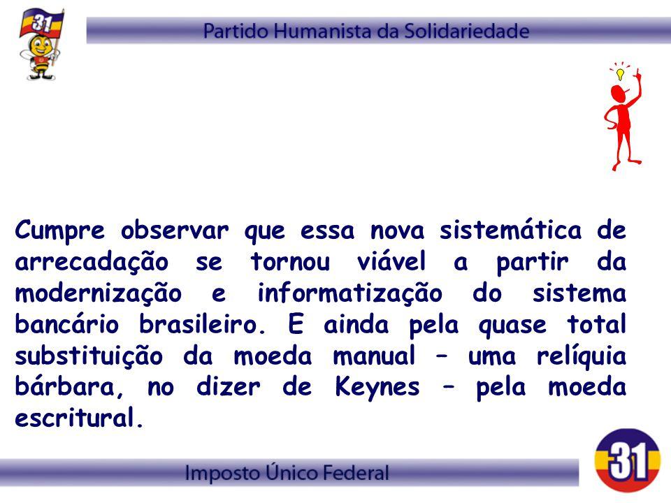 Cumpre observar que essa nova sistemática de arrecadação se tornou viável a partir da modernização e informatização do sistema bancário brasileiro.