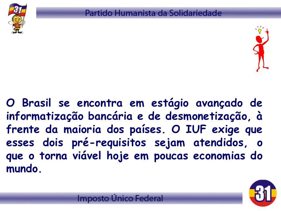O Brasil se encontra em estágio avançado de informatização bancária e de desmonetização, à frente da maioria dos países.