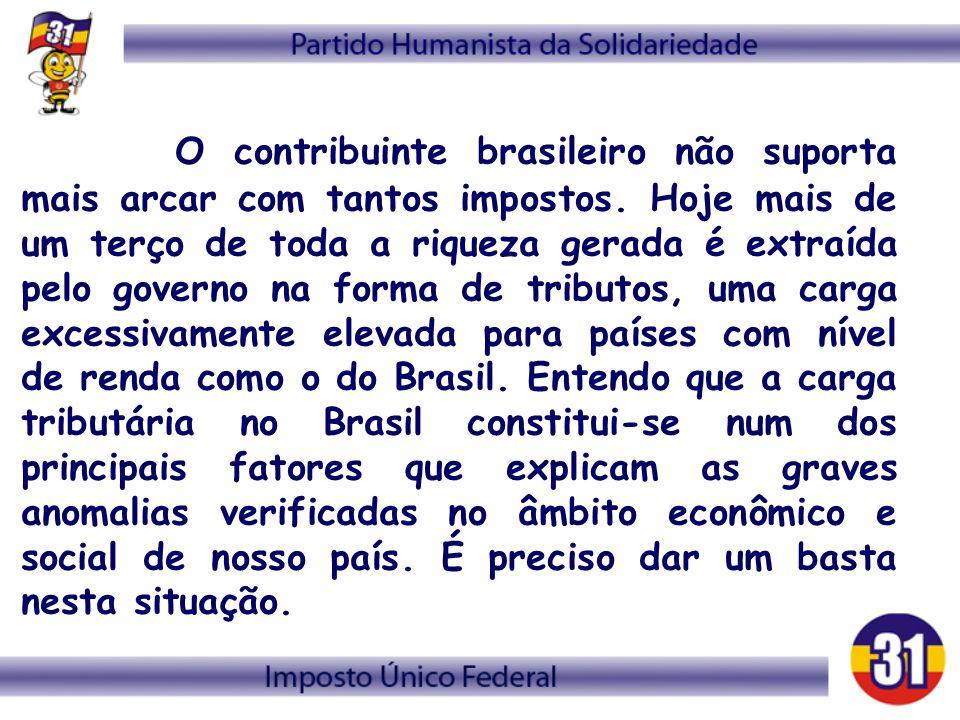 O contribuinte brasileiro não suporta mais arcar com tantos impostos