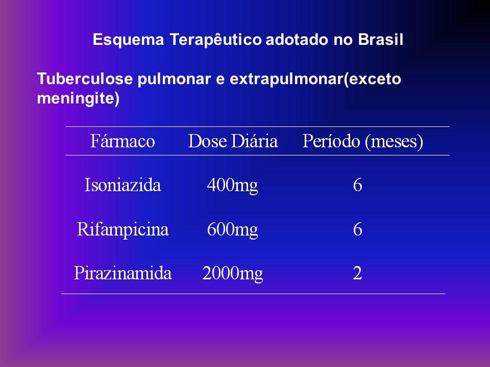 Esquema Terapêutico adotado no Brasil