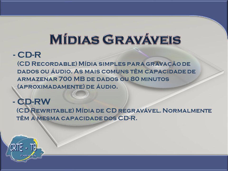 Mídias Graváveis - CD-R - CD-RW