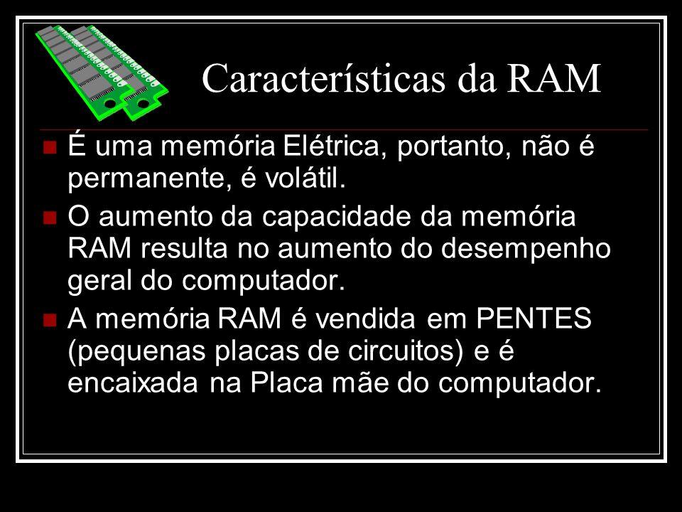 Características da RAM